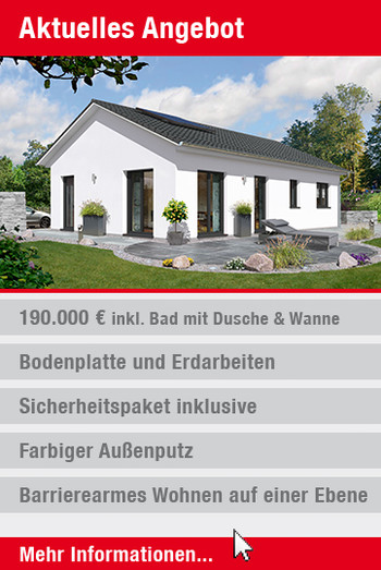 Angebot Massivhaus Bungalow 100